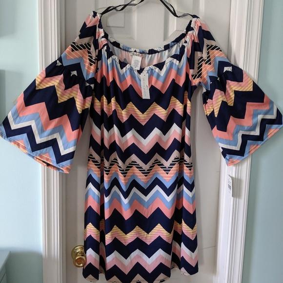 Love Squared Dresses & Skirts - Plus Size off the shoulder dress Sz 2X NWT